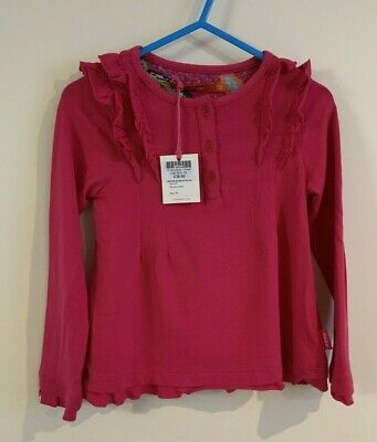 RRP £38 * OILILY * Girls Designer Long Sleeve Top * Pink * Age 2 EU 92