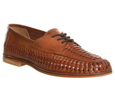 Mens Office Tan Leather Lace Up Lace-up Size UK 8 *Ex-Display