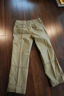 Womens EDDIE BAUER khaki TROUSERS Cotton Casual canvas cargo Pants 6 EUC