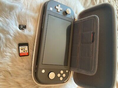 nintendo switch lite console grey With Case And Pokemon DX