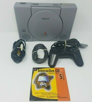 Sony PlayStation 1 PS1 Gray Console Bundle PS1 SCPH-7001 Tested & Working