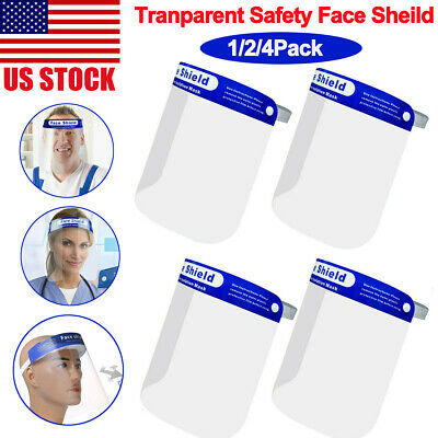 Safety Anti-fog Transparent Full Face Shield Protector Cover For Work Industry