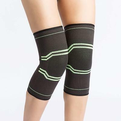 2 Knee Sleeve Compression Brace Support -Sport Joint Pain Arthritis Relief - XL