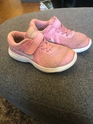 Girls Pink Nike Trainers Size 10