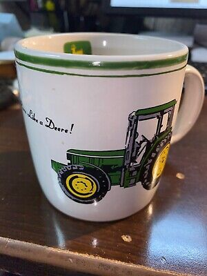 John Deere Green Yellow '90's Tractor Coffee Mug Gibson