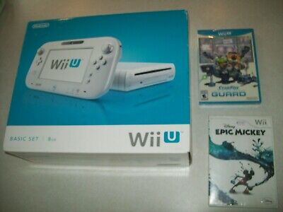 Nintendo Wii U System Console Bundle CIB COMPLETE 2 Games, Tablet, Working 100%