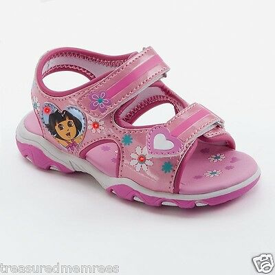 Nickelodeon's Dora The Explorer Light Up Open Toe Sandals ~ Size 11 ~New In Box