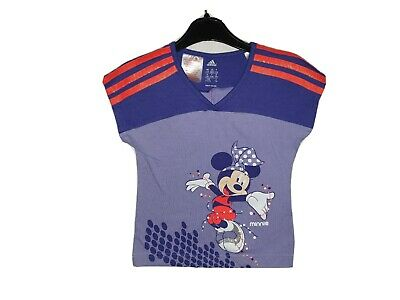 Girls ADIDAS Climalite MINNIE MOUSE T Shirt Age 4-5 Years