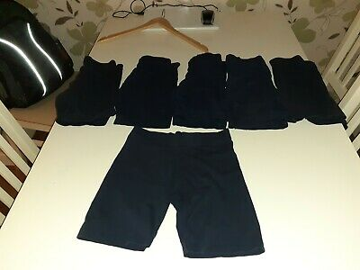 6 Pairs Of girls Navy Cycle Shorts