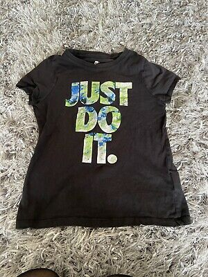 Nike Just Do It Black Tshirt In Age 10!