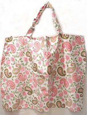 Groovy Trend Lab Pink and Green Paisley Nursing Cover