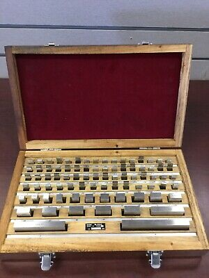 Gage Block Set 81 Piece Grade B In Wood Case