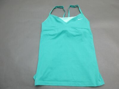 Nike Size M Girls Yotuh Green Athletic Dri-Fit Gym Fitness Sport Tank Top 127