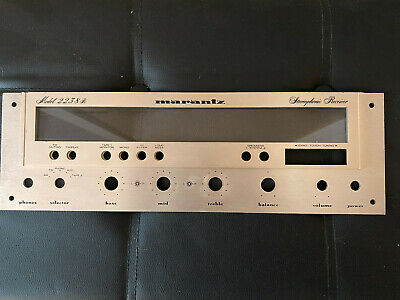 New Marantz Model 2230 Amplifier Front Panel Faceplate in Silver Face Plate