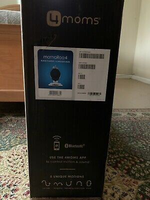 4 Moms mamaRoo 4 Classic Black Baby Swing NIB bluetooth VERY NICE! 5 Motions