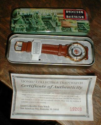 NEW Lionel Steam Locomotive Engine Collectable Train Watch In Tin w/Certificate