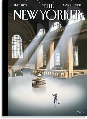 "The New Yorker Magazine March 30, 2020 Eric Drooker's ""Grand Central Terminal"""