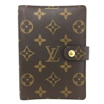 100% Authentic Louis Vuitton Monogram Agenda PM Notebook Cover /ee71