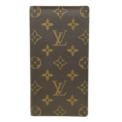 Auth Louis Vuitton Monogram Agenda De Posh Notebook Cover /ee72
