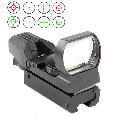 Green Red Dot Reflex Sight Holographic Scope Tactical Rifle Mount Rail 1X22X33mm