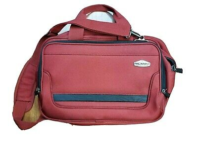 Ricardo Beverly Hills Luggage Carry-On Traveler Red Suit case  Organizer 12X18