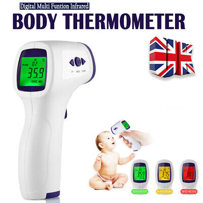 Non-touch Baby Adult Temperature Gun Digital LCD Thermometer Infrared Forehead