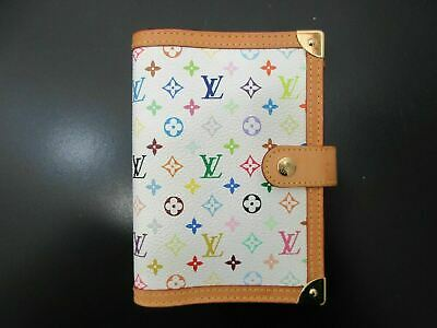 Auth Excellent Louis Vuitton Monogram Multicolore Agenda PM R20896 Box 82946 B