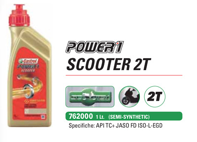 Castrol POWER 1 Full Synthetic 10W-30 1L Olio per Motori Scooter 2T