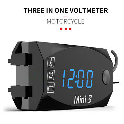 Digital LED Display Voltmeter Voltage Gauge Panel Meter For Car Motorcycle O7T7