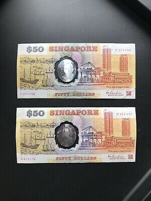 Singapore 50 Dollar Polymer Commemorative Note RARE