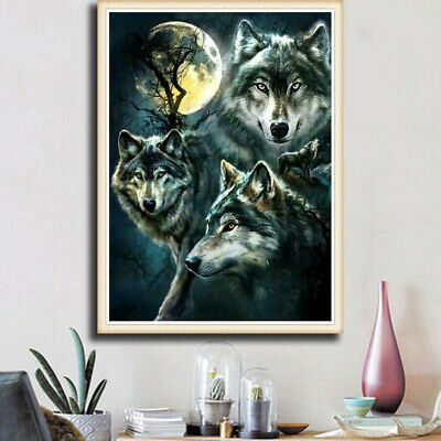 DIY 5D Diamond Painting Full Drill Wolves Hand Embroidery Kits Art Decors Gifts