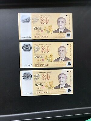Singapore $20 Dollar Polymer Commemorative Note RARE