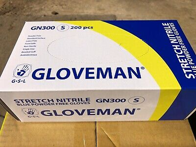 200 Nitrile Disposable small Gloves Powder Free Blue stretch gloves latex free