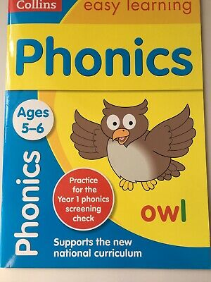 Collins Easy Learning Phonics Ages 5-6 Home School Homework Children's Education