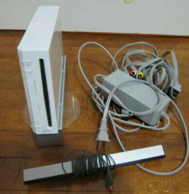NINTENDO WII Video Game CONSOLE works but does not read disc - FOR PARTS REPAIR