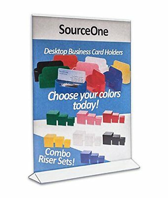 "6 Pack, Acrylic Store Sign Holders 8.5 X 11"", Double Sided - Office Supplies"