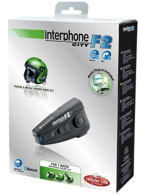 Cellularline Interphone F2 City - Interfono da casco per Moto