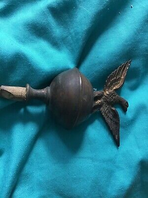 Antique BRASS LONGCASE GRANDFATHER CLOCK   FINIAL No 2 Please Look
