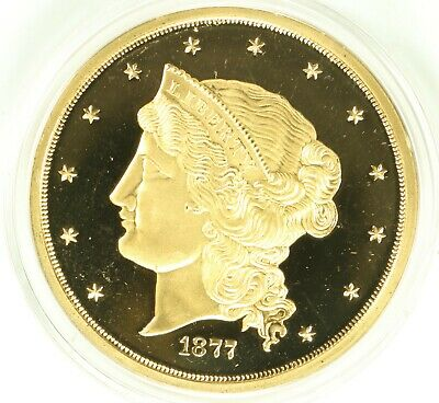 1877 Proof 50 Dollars Liberty Gold Copy Coin $50