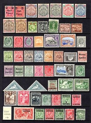 EMPIRE-COMMONWEALTH QV TO KGV MOUNTED MINT RANGE x 54 STAMPS TO 5/- VALUE