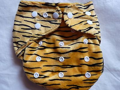 New Minky Tiger Cloth Diaper Cover Double Gusset FlipThirstieBummis PUL EB2