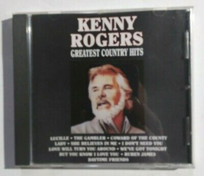 Kenny Rogers Greatest Country Hits Compact Disc Curb Records 1990 Tested