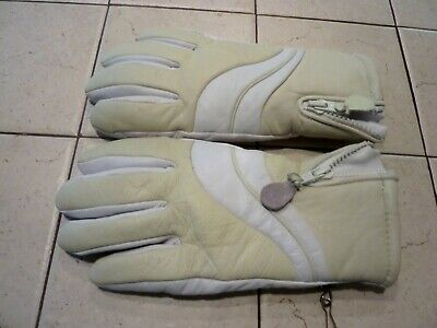 Nwot Sea & Ski Womens Tan Leather Lined Gloves - Large