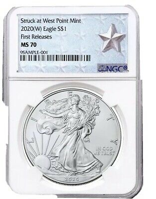 2020 (W) Silver Eagle Struck At West Point NGC MS70 FR West Point Label