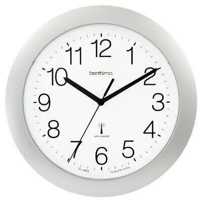 Acctim 74517  ARAGON  Radio Controlled Wall Clock in Silver (our ref 4r)