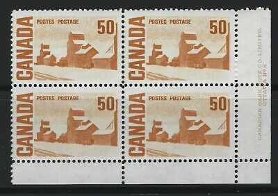 CANADA - #465Aiv - 50c SUMMER'S STORES LR PLATE #2 BLOCK  MNH