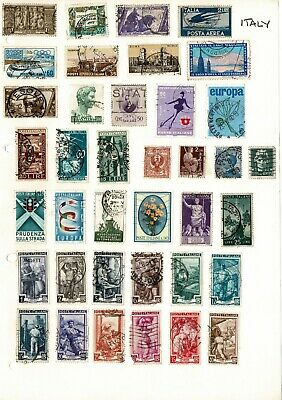 Italy stamps hinged on 5 pages including some very old Italian