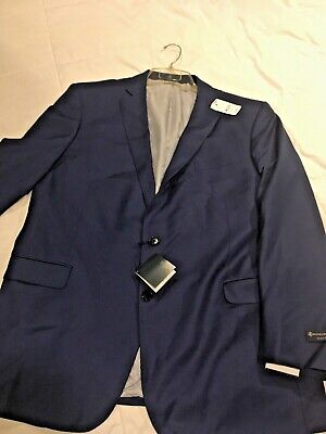 Men's Brooks Brothers Explorer Regent Fit Solid Navy Blue Wool BlazerJacket 46L