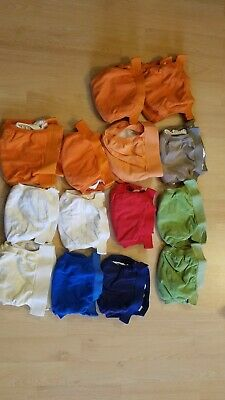 14- Gdiapers- Small- Covers and Plastic Liners + 4 Gdiaper cloth inserts