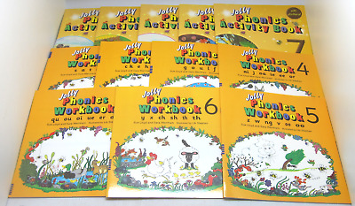 Jolly Phonics Activity Books 3-7 Workbooks 1-7 Wernham Lloyd, Stephen Like New